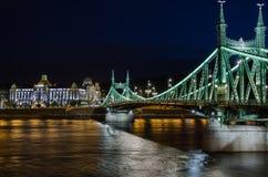 Ponticello di libertà a Budapest Immagini Stock