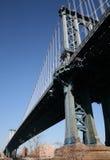 Ponticello di Manhattan da sotto immagini stock