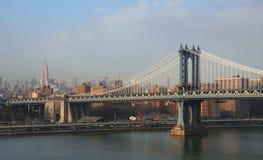 Ponticello di Manhattan e Midtown Manhattan Immagini Stock Libere da Diritti
