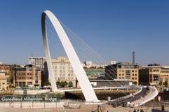 Ponticello di millennio di Gateshead Immagine Stock