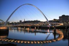 Ponticello di millennio di Gateshead Fotografia Stock
