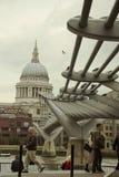 Ponticello di millennio, Londra Fotografia Stock Libera da Diritti