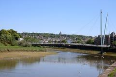 Ponticello di millennio sopra il fiume Lune, Lancaster Fotografia Stock