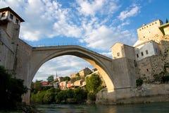 Ponticello di Mostar Fotografie Stock Libere da Diritti