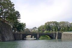 Ponticello di Nijubashi in palazzo imperiale, Tokyo, Giappone Immagini Stock Libere da Diritti