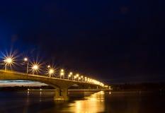 Ponticello di notte Fotografie Stock Libere da Diritti
