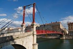 Ponticello di Passerelle San-Georges a Lione, Francia fotografie stock libere da diritti
