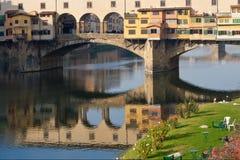 Ponticello di Ponte Vecchio di Firenze Fotografia Stock Libera da Diritti