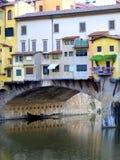 Ponticello di Ponte Vecchio a Firenze, Italia Immagini Stock Libere da Diritti