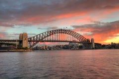 Ponticello di porto di Sydney ad alba fotografia stock