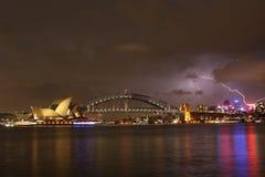 Ponticello di porto di Sydney & opera Houde Immagini Stock Libere da Diritti