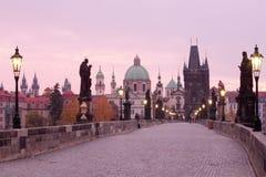 Ponticello di Praga charles Immagini Stock