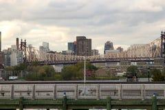 Ponticello di Queensboro, NY Fotografia Stock
