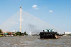 Ponticello di Rama VIII, Bangkok, Tailandia Immagine Stock Libera da Diritti