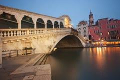Ponticello di Rialto - Venezia Immagine Stock