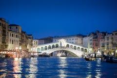 Ponticello di Rialto, Venezia Immagine Stock