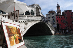 Ponticello di Rialto a Venezia Immagine Stock