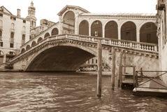 Ponticello di Rialto, Venezia immagine stock libera da diritti