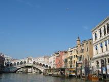 Ponticello di Rialto, Venezia, Italia Immagine Stock Libera da Diritti