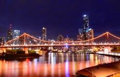 Ponticello di storia, Brisbane Fotografie Stock