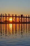Ponticello di U Bein, Mandalay, Myanmar Immagine Stock Libera da Diritti