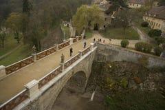 Ponticello di Veveri del castello Immagine Stock Libera da Diritti