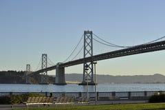 Ponticello e baia di San Francisco Bay Fotografie Stock