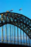 Ponticello e bandierine di Sydney Fotografie Stock Libere da Diritti