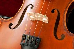 Ponticello e Srings del violino Fotografia Stock Libera da Diritti