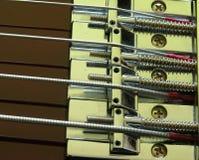 Ponticello elettrico 1 della chitarra bassa fotografia stock libera da diritti