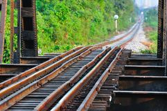 Ponticello ferroviario a Bangkok della Tailandia fotografia stock