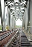 Ponticello ferroviario verde Fotografia Stock