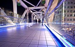 Ponticello illuminato città di Tokyo Fotografia Stock Libera da Diritti