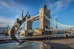 Ponticello Londra Inghilterra della torretta Immagini Stock