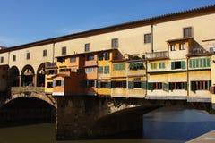 Ponticello medioevale Ponte Vecchio a Firenze Fotografia Stock