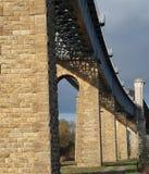 Ponticello metallico di Cubzac, fiume Dordogne Fotografie Stock
