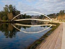 Ponticello nel fiume di Lerez a Pontevedra Fotografia Stock Libera da Diritti