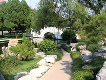 Ponticello nel giardino di Nanjiao Immagine Stock Libera da Diritti