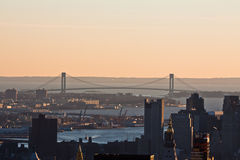 Ponticello New York City degli stretti di Verrazano Fotografie Stock
