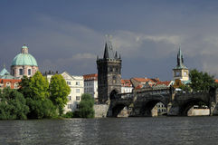 Ponticello Praga del Charles Fotografia Stock