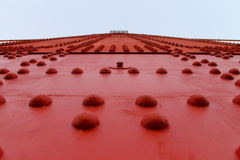Ponticello rosso immagine stock