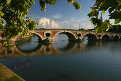 Ponticello sopra Garona Fotografia Stock