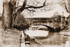 Ponticello sopra il fiume Eden Fotografia Stock