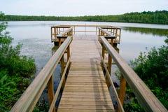 Ponticello sopra il lago Fotografia Stock Libera da Diritti