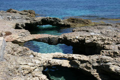 Ponticello sopra il mare (3) Fotografie Stock Libere da Diritti