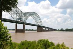 Ponticello sopra il Mississippi Fotografie Stock Libere da Diritti