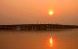 Ponticello sopra la baia di Boca Ciega fotografia stock libera da diritti