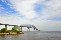 Ponticello sopra la baia di Chesapeake Immagine Stock Libera da Diritti