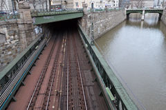 Ponticello sotterraneo di Vienna Fotografia Stock