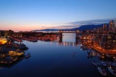 Ponticello storico di Burrard di Vancouver Immagini Stock